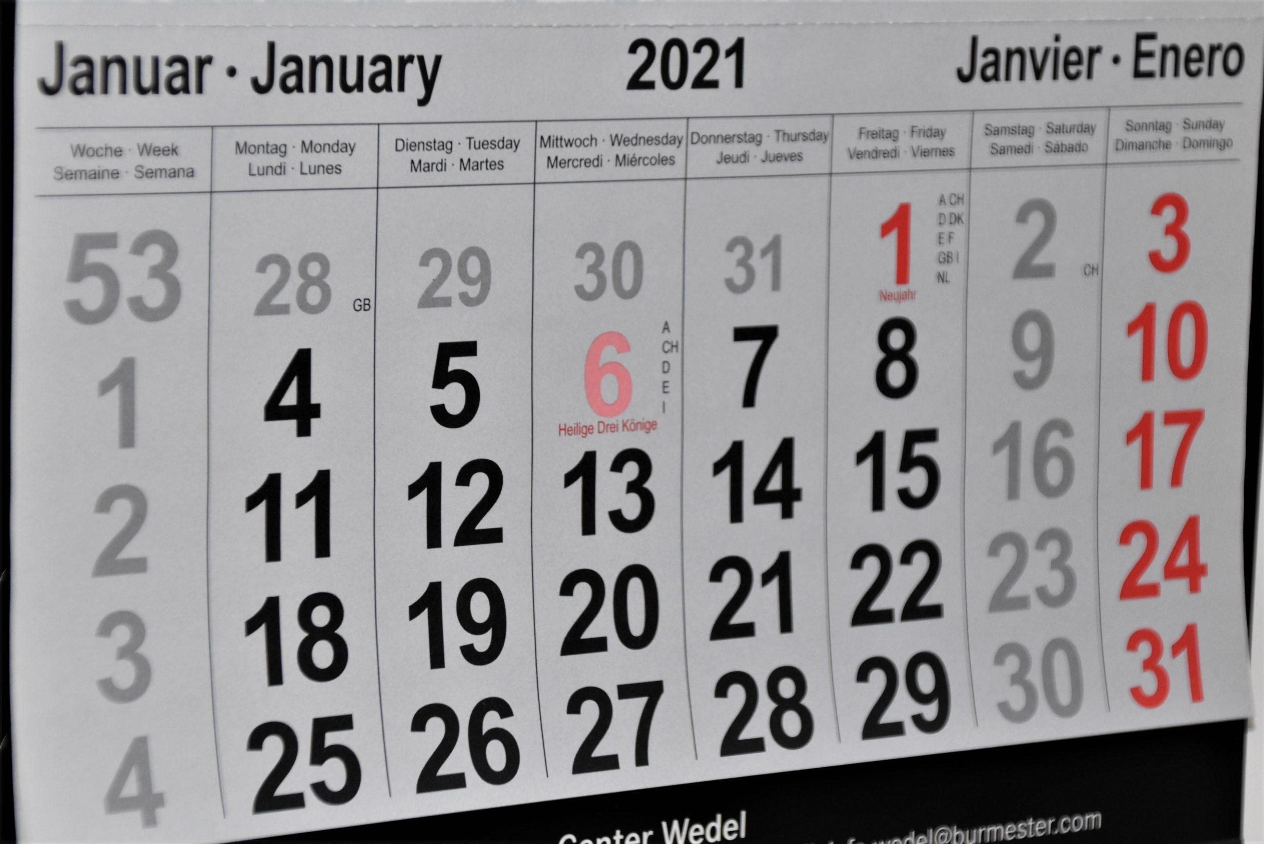 Regional Funding Deadlines 2021